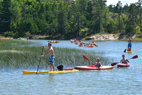 The Platte River is perfect for kayaking, canoeing, paddle boarding and the like.