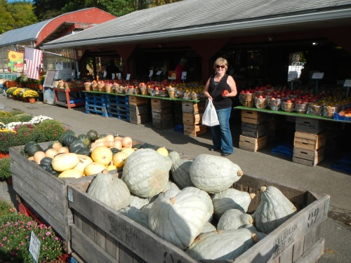 The Finger Lakes region of New York is wine and fruit country; roadside fruit markets abound.