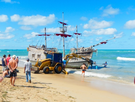 Pirates can be quite resourceful when their ship is beached.