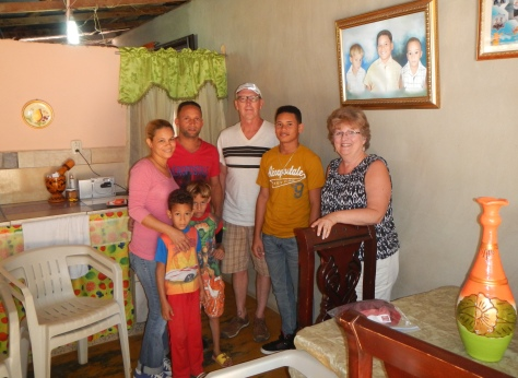 We were able to visit our sponsored child's family in their home.