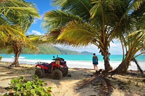 Arriving on the four-wheeler, we found the beach peaceful and serene.