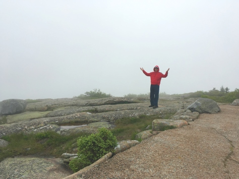 Bob on Cadillac Mtn. in the fog