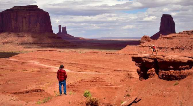Two (fake) Cowboys Meet in Monument Valley
