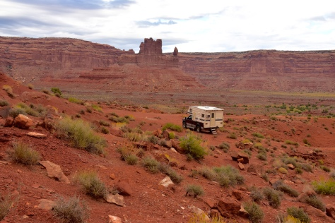 Camper heads into Valley of the Gods