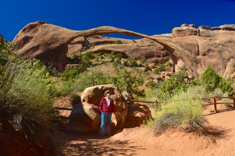 I had to get myself in a shot with Landscape Arch before it collapses and is gone forever.
