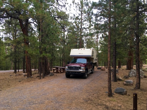 Pleasant Creek Nat'l Forest Campground is a cool respite on Highway 12 north of Boulder, Utah
