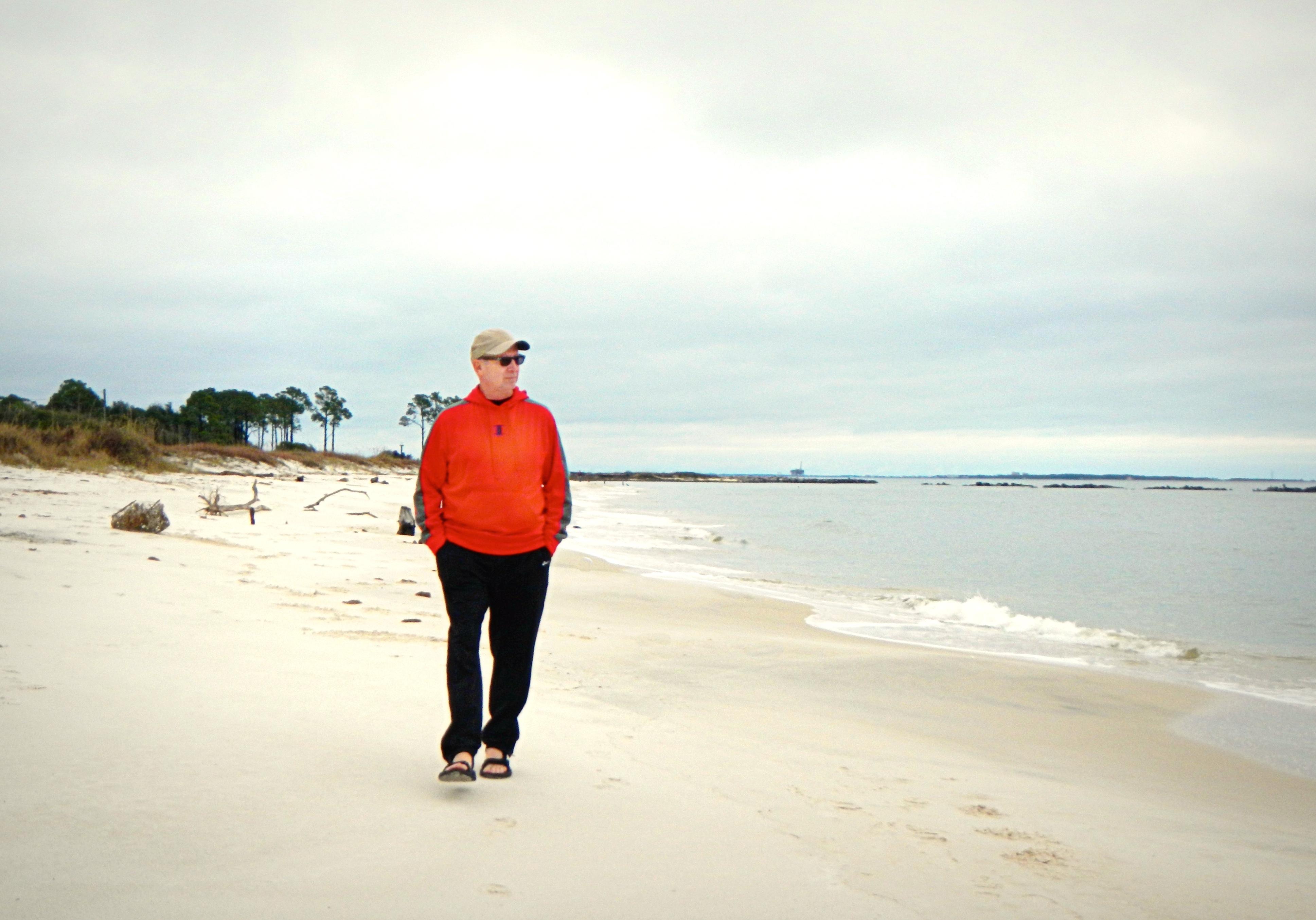 Bob on Dauphin Island beach 2511