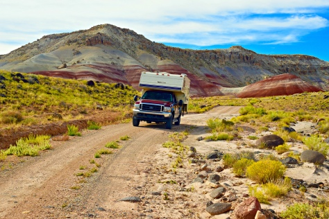 On the trail to Cathedral Valley, Capital Reef. I had to ford the Fremont River to get to this lonely 2-track.