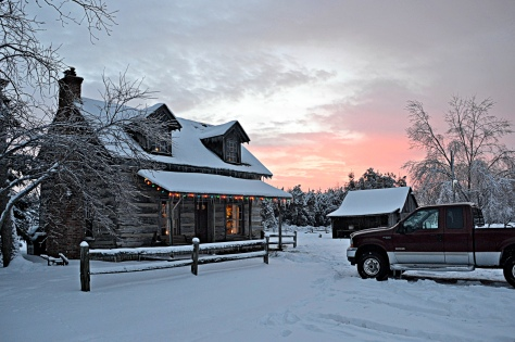 We were living in a historical old log cabin at the tree farm when the wanderlust hit.