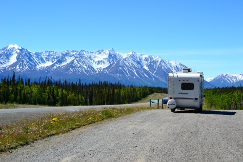 The Alaska Highway is 1500 miles of rugged mountains, valleys, forest and tundra.