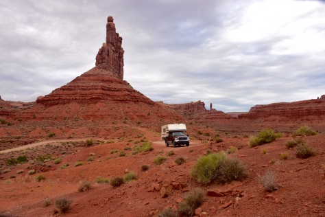 I camped at the foot of a tall butte at Valley of the Gods.
