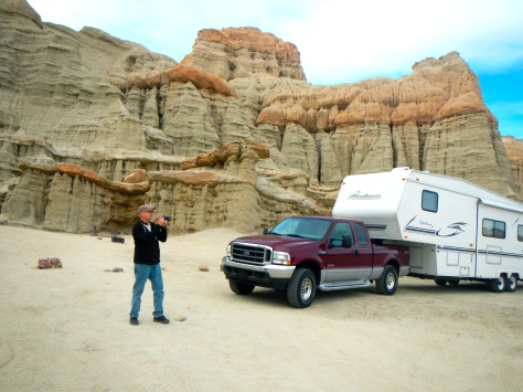 We were the only visitors on a January day at Red Rocks State Park near Mojave, California.