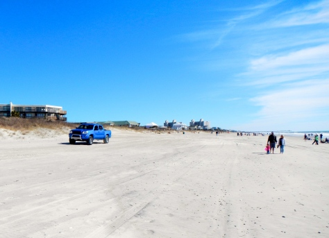 Driving on the beach is permitted at Emerald Isle... for a price.