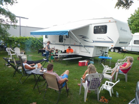 Our campground was only a few miles from the grandkids, so we had company often.