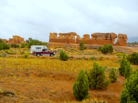 On a rainy day at Devil's Garden near Escalante, Utah, I was glad not to be camping in a tent.