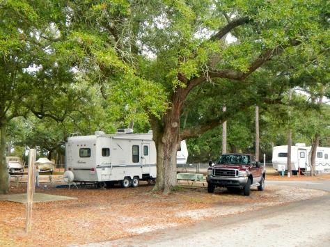 Dauphin Island campsite